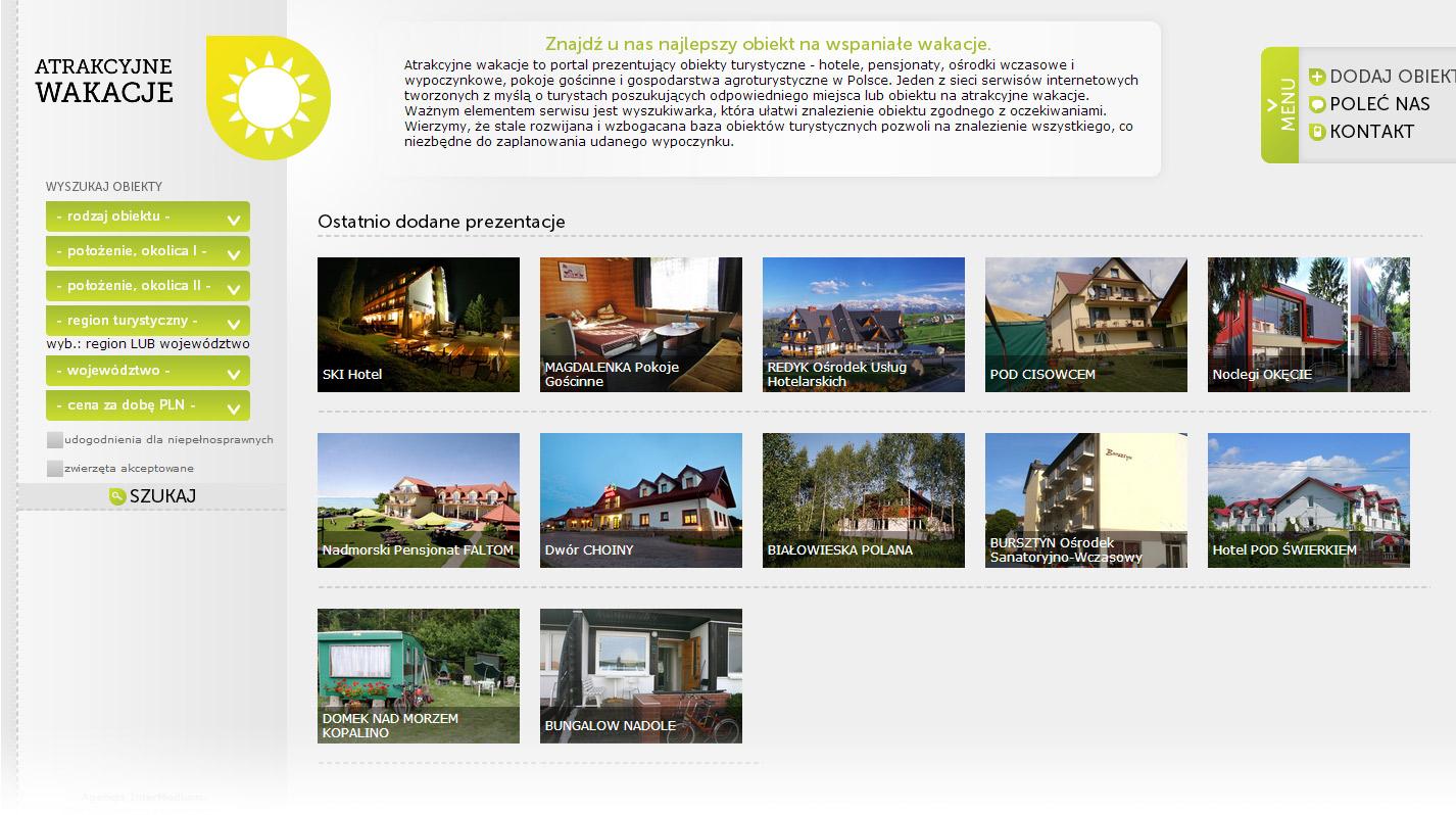 Obiekty Turystyczne - yellow version