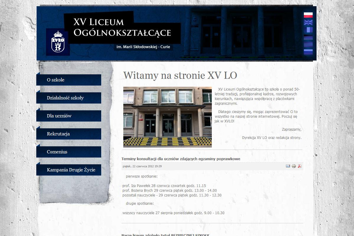 XV Liceum Ogólnokształcące Kraków